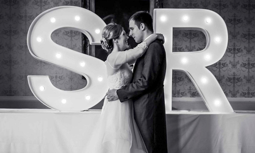 wedding led letters