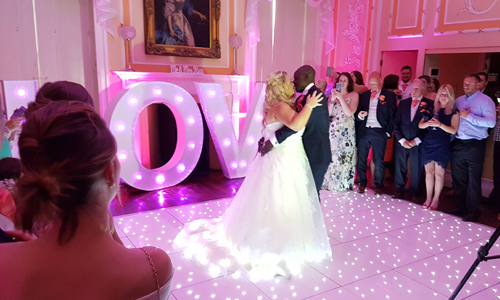 wedding mood lighting hire