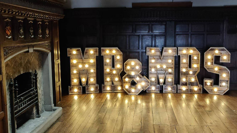 WOOD 'Rustic' Letters, Podiums and Centrepieces